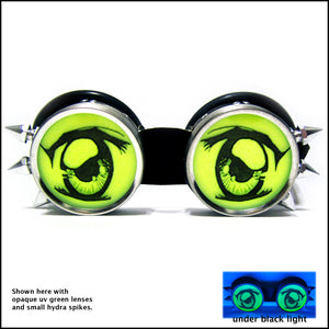 Opaque UV Green Custom Goggles