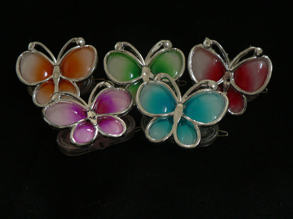 LED Butterfly Hair Clip-Small assorted colors