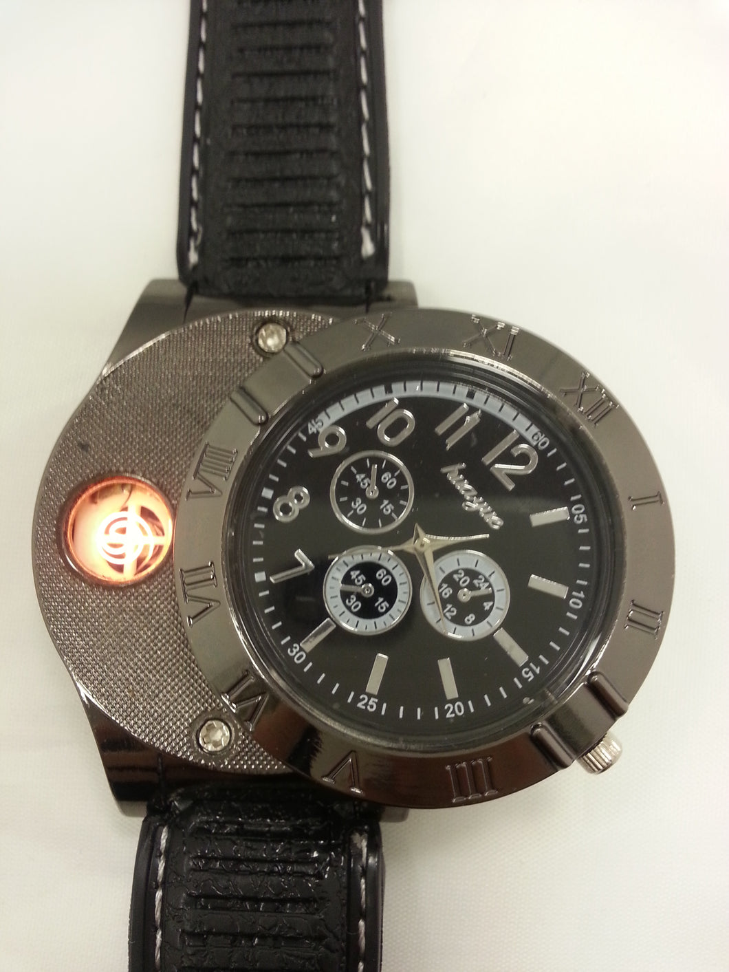 Windproof Lighter Watch Electric Coil