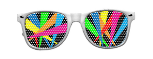 Multi Spot-Light Vinyl Sun Glasses with White Frames
