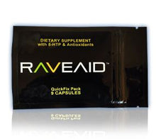RaveAid quickfix packets