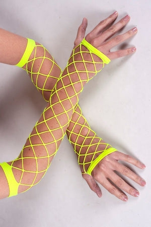 Fish Net Arms- UV Yellow