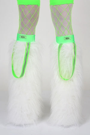 Neon Glam Loop White & Green
