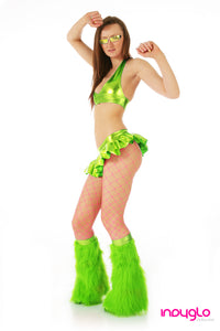 Lime Green Mini Skirt Rave Outfit