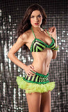 Lime Striped Dance Skirt Set (front)