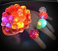 Flashing Light-Up Mini Spiked Jelly Ring
