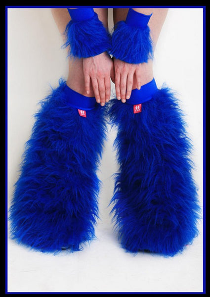 Fluffy Cuff Blue Set