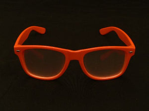 Rainbow Diffraction Vision Glasses Neon Orange