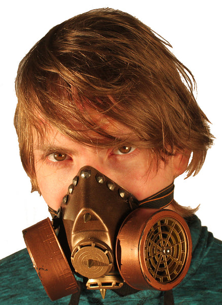 Dual Cartridge Steampunk Gas Mask Rivets 2