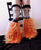 Monster Fur Fluffies in Orange/Yellow/Green