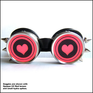 Heart Custom Rave Goggles