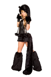 Black Cat Rave Costume Back