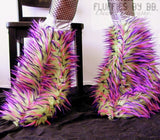 Monster Fur Fluffies in Lime/Pink/Purple