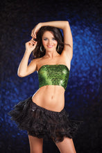 Sequin Tube Top -Green