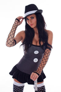 Lady Mobster Dress Costume