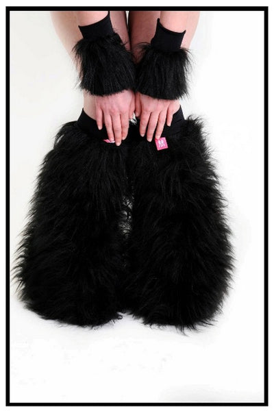 Fluffy Cuff Black Set