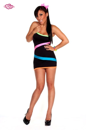 Rio Party Rave Dress Black
