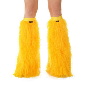 Golden Yellow Fluffy Leg Warmers / Sunrise Bands