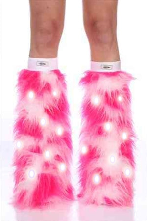 Strawberry Ice LED Furry Boot Covers