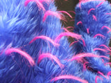 Blue Fur with Pink Spikes