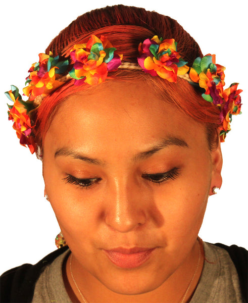 Tutti Fruity Flower Crown Headband Model