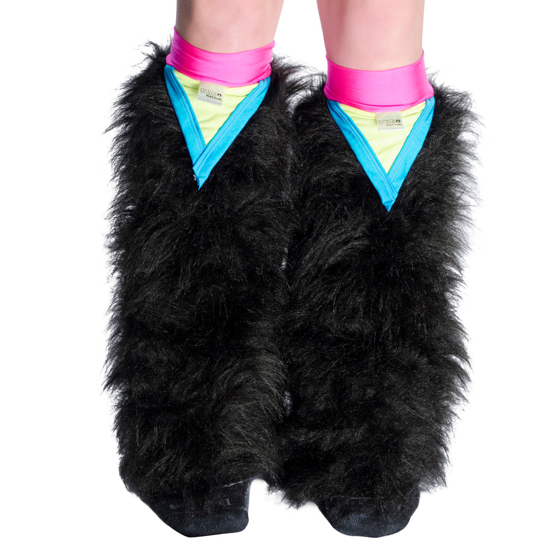 Black Fluffies with Pink Triangle Kneebands