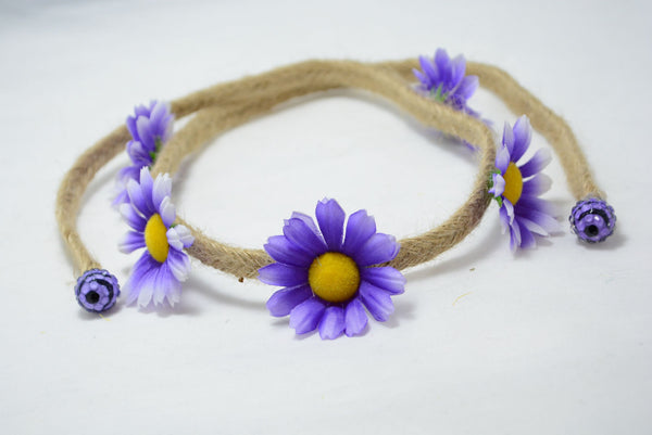 large purple daisy floret band