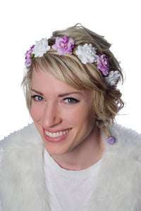 Purple Petal and White Flower Crown Model