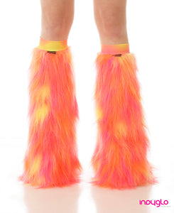 Solar Fluffy Warmers Orange Pink Yellow