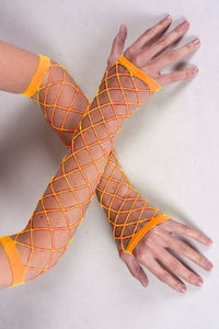 Fish Net Arms- UV Orange