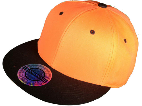 Neon Orange/Black Snapback Hat w/ Orange Underbill