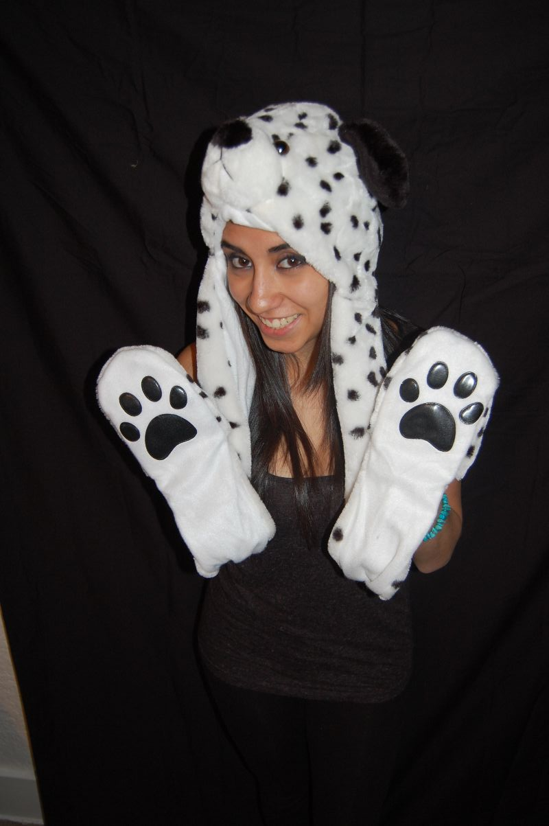 Long Double Sided Animal Hat- Dalmation