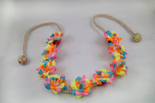 Sherbert Flower Crown Headband with White Hemp