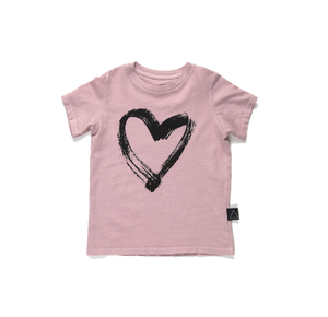 HEART PAINT STROKE Short Sleeve Tee