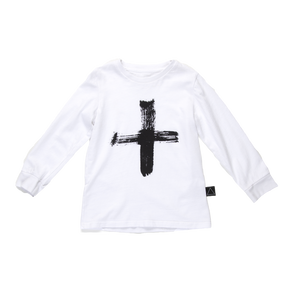 PLUS PAINT STROKE Long Sleeve Tee