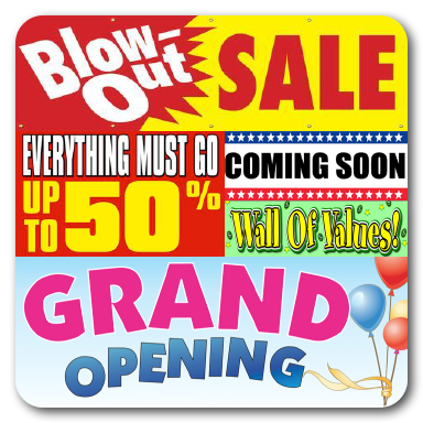 Grand Opening & Store Closing