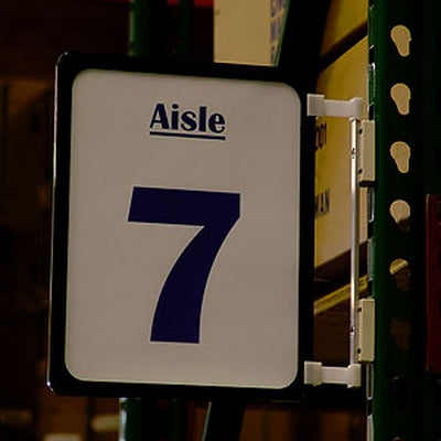 Aisle Markers Aisle Directory Plastic Sign & Magnetic Holder Set-8.5 x 11