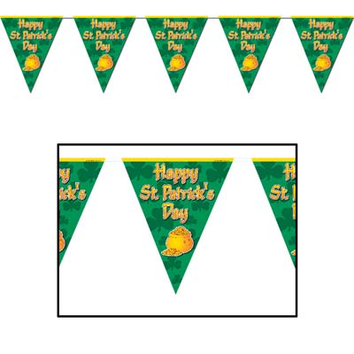 St. Patty's Day Pennants-12 per case