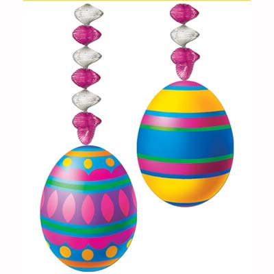 Easter Egg Ceiling Danglers- 24 pieces
