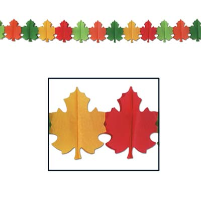 Fall Leaf Display Garlands -12 per pack