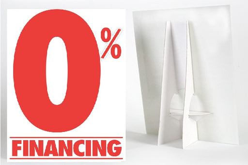 0% Financing Easel Sign