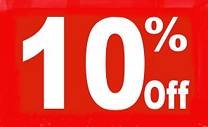 10% Off Shelf Sign-Price Cards- 10 signs