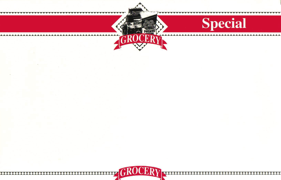 "Grocery Special Shelf Signs 11"" W x 7"" H -100 signs - screengemsinc"
