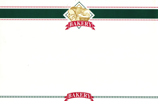 "Bakery Shelf Price Signs 11"" W x 7"" H -100 signs"
