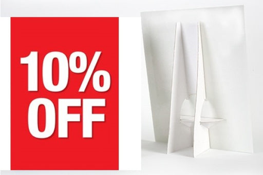10% Off Counter Top Easel Sign