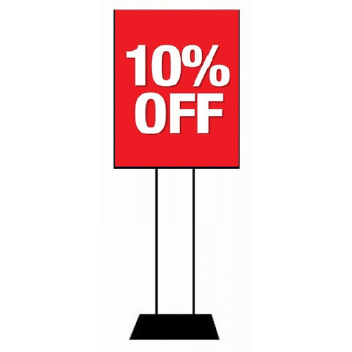"10% Off Stanchion Sign-Standard Sale Event Poster-22""x28"""