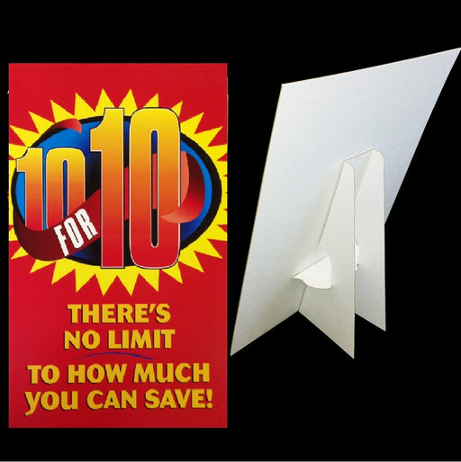 10 for 10 Counter Top Easel Sign