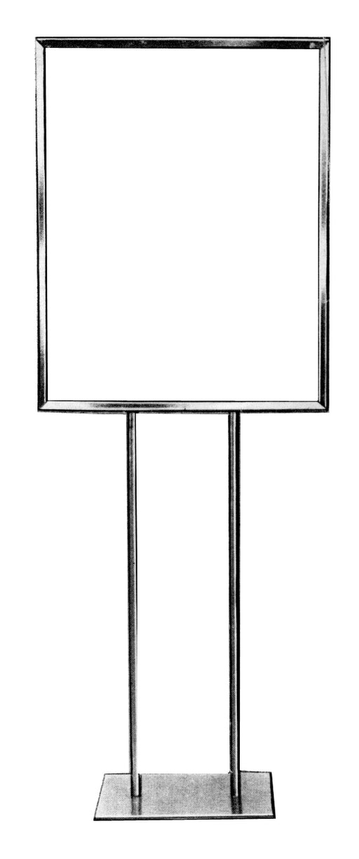 "Floor Stand Stanchion Sign Holder-Chrome-60""Tall"