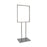 Floor Stand Stanchion Sign Holder-Heavy Duty- Chrome