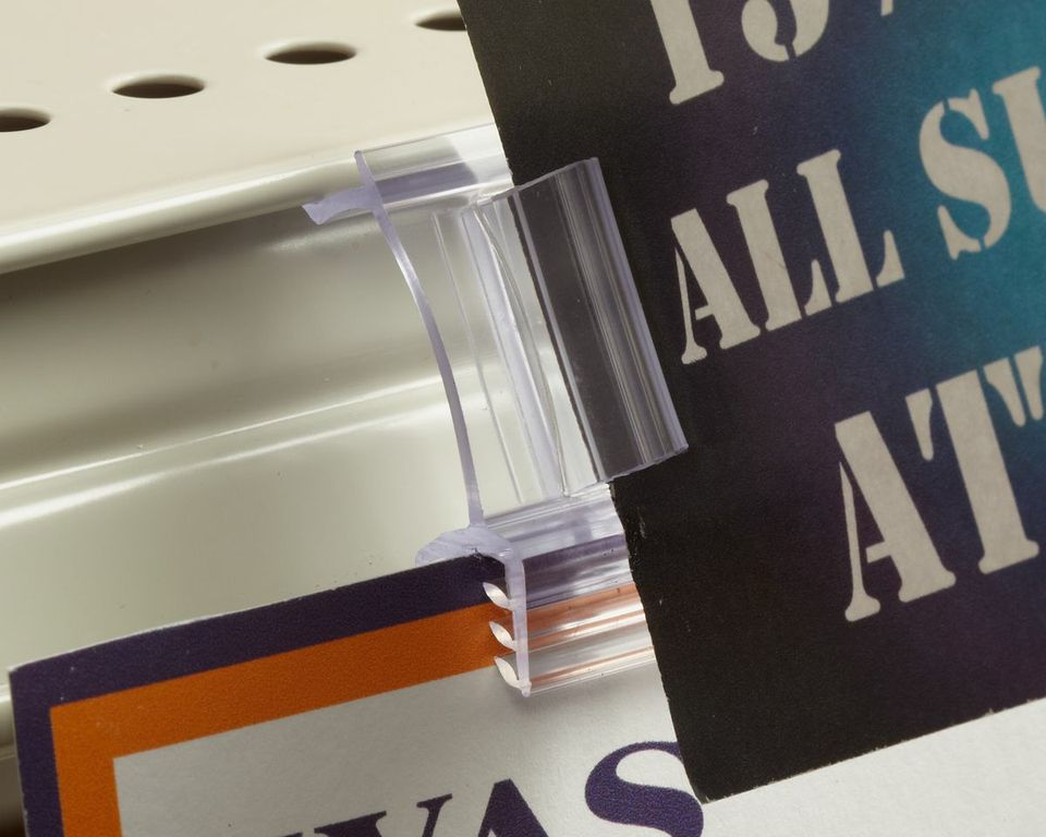 Sign Holders-Shelf-Clips-Dual Action Flag- 25 pieces
